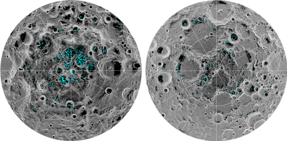 es la primera vez que los científicos observan la presencia de hielo en la Luna